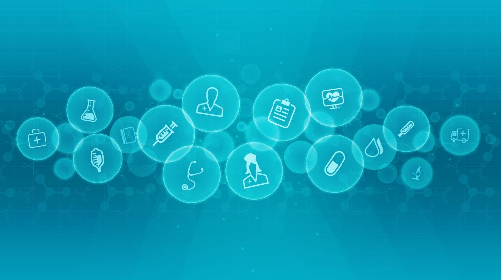 Abstract medical and science background