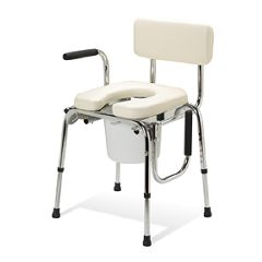 Commode Drop Arm Padded